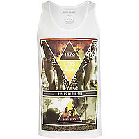 White North Beach LA print vest