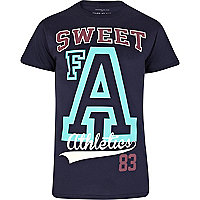 Navy sweet FA athletics print t-shirt