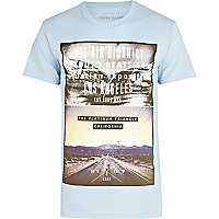 Blue Bel Air district LA print t-shirt