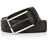 Black gunmetal prong belt