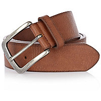 Light brown jeans belt