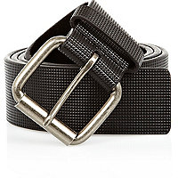 Black stud textured belt