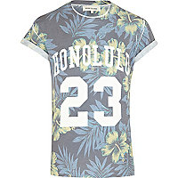 Ecru Hawaiian print Honolulu t-shirt