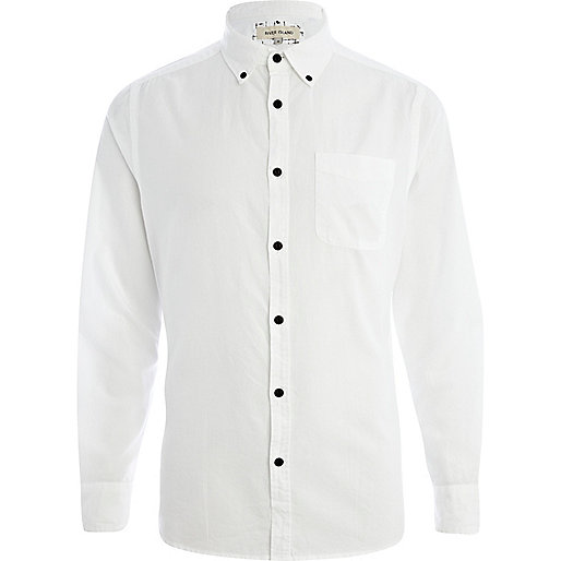 White long sleeve Oxford shirt
