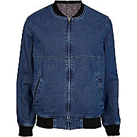 Blue denim reversible Bellfield bomber jacket