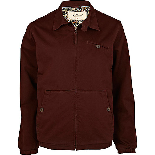 Red Bellfield harrington jacket