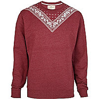 Red Bellfield bandana print sweatshirt
