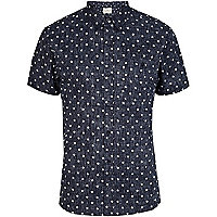 Navy Bellfield star print shirt