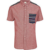 Red Bellfield tribal patch shirt