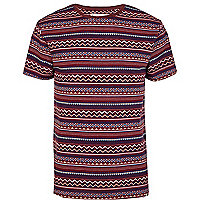 Red Bellfield aztec print t-shirt