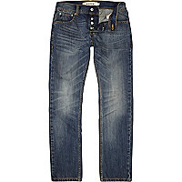 Mid wash Bellfield straight jeans