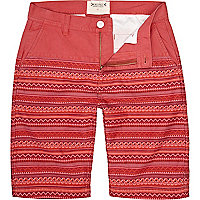 Red Bellfield placement aztec print shorts