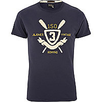 Navy Jack & Jones Vintage rowing t-shirt