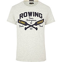 Grey Jack & Jones Vintage rowing t-shirt