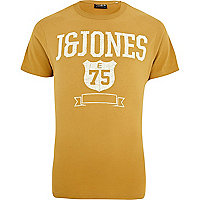 Yellow Jack & Jones Vintage print t-shirt