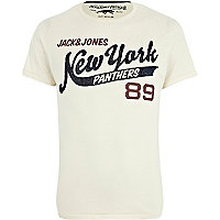 White Jack & Jones Vintage New York t-shirt