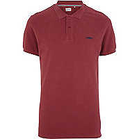 Dark red Jack & Jones Vintage polo shirt