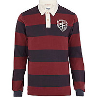 Purple stripe Jack & Jones Vintage polo shirt