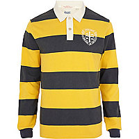 Yellow stripe Jack & Jones Vintage polo shirt