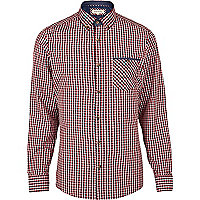 Red gingham long sleeve shirt