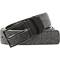 Grey melton wool belt
