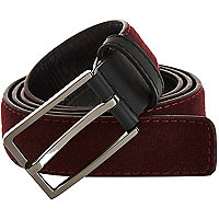Dark red melton wool belt