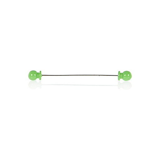 Light green sphere collar pin