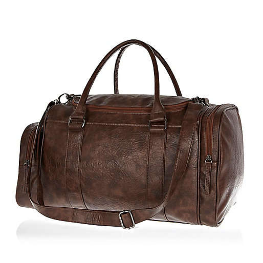 Brown mini holdall bag