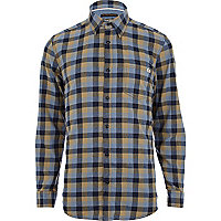 Blue Jack & Jones check flannel shirt