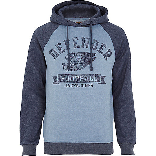 Blue Jack & Jones Vintage defender hoodie
