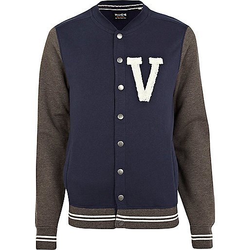 Navy Jack & Jones Vintage varsity jacket