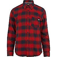 Red Jack & Jones Vintage check flannel shirt