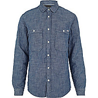 Blue Jack & Jones Vintage quilted shirt