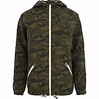 Khaki Jack & Jones Vintage camo jacket