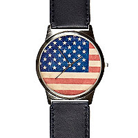 Navy stars and stripes watch