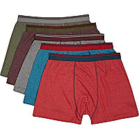 Dark marl pack of 5 boxers