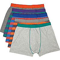 Multicoloured stripe boxer shorts pack