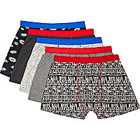 Grey speech bubble 5 pack boxers