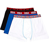 Red USA print boxer short pack