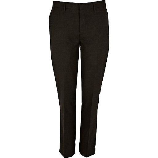 Dark green slim suit pants