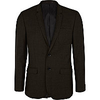 Dark green slim suit jacket