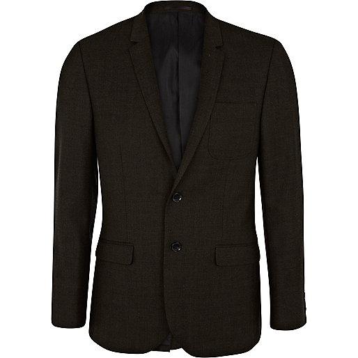 Dark green slim suit jacket