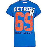 Blue Detroit 69 print t-shirt