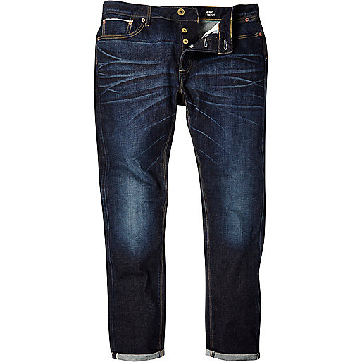 Mid wash Eddy skinny stretch selvedge jeans