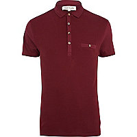 Dark red polo shirt