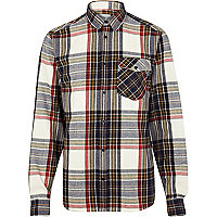 Cream WeSC check flannel shirt