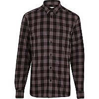 Black WeSC check flannel shirt