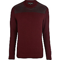 Red textured coated panel jumper