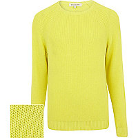 Yellow textured jumper