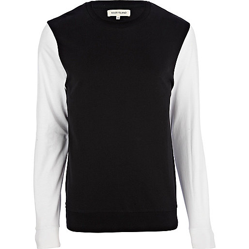 Black contrast sleeve sweatshirt